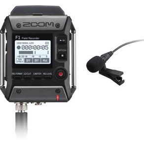 Gravador-Zoom-F1-LP-Field-com-Microfone-Lapela