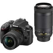 Kit-Camera-Nikon-D3400-com-Lente-Nikkor-18-55mm-VR---70-300mm-ED
