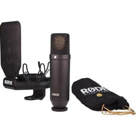 Microfone-para-Estudio-Rode-NT1-Condensador-de-Diafragma