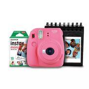 Kit-Camera-Instantanea-Instax-Mini-9-Fujifilm-com-Porta-Fotos-e-Filme-10-Poses---Rosa-Flamingo