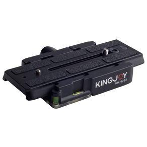 Base-com-Plate-de-liberacao-rapida-estendida-KingJoy-KH-6253-de-2-estagios-para-Tripes-e-Monopes