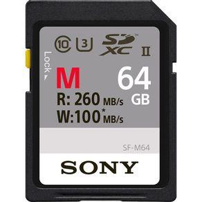 Cartao-SDXC-64Gb-Sony-UHS-II-U3-Serie-M-de-260Mb-s--Classe10-