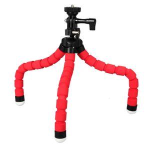 Mini-Tripe-Flexivel-Gorila-KT-600s-com-Cabeca-360---Vermelho