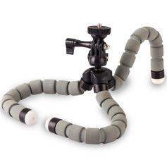 Mini-Tripe-Flexivel-Gorila-KT-600s-com-Cabeca-360---Cinza