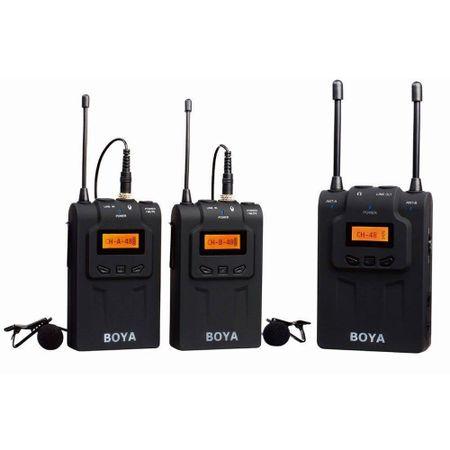 Microfone-Lapela-Sem-Fio-Duplo-Boya-BY-WM8-com-2-Transmissores