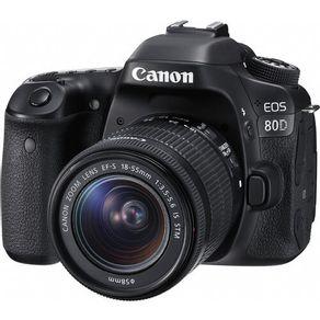 Camera-Canon-EOS-80D-com-Lente-18-55mm