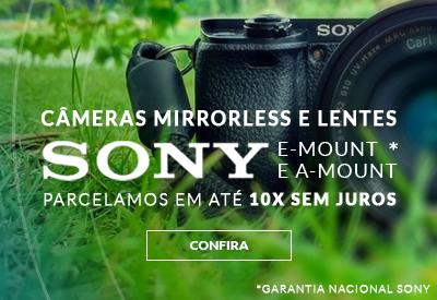 cameras mirroless e lentes