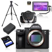 Kit-Sony-Alpha-a7III-Mirrorless---Monitor-5.6----Tripe-de-Video---Bolsa---Bateria-Extra-e-Cartao-64GbKit-Sony-Alpha-a7III-Mirrorless---Monitor-5.6----Tripe-de-Video---Bolsa---Bateria-Extra-e-Cartao-64Gb