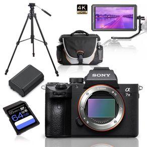 Kit-Sony-Alpha-a7III-Mirrorless---Monitor-5.6----Tripe-de-Video---Bolsa---Bateria-Extra-e-Cartao-64GbKit-Sony-Alpha-a7III-Mirrorless---Monitor-5.6----Tripe-de-Video---Bolsa---Bateria-Extra-e-Cartao-64Gb