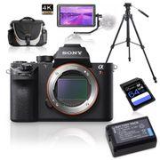Kit-Sony-Alpha-a7RII-Mirrorless---Monitor-5.6---Tripe-de-Video---Bolsa---Bateria-Extra-e-Cartao-64Gb