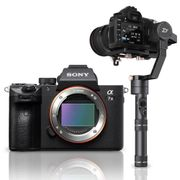 Kit-Camera-Sony-a7III-Mirrorless---Estabilizador-Inteligente-Crane-Plus-com-3-Eixos