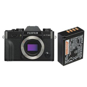 Camera-FujiFilm-X-T30-Mirrorless-Preta--Corpo----Bateria-Extra-Fuji-NP-W126S