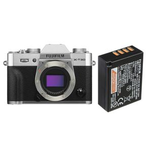 Camera-FujiFilm-X-T30-Mirrorless-Prata--Corpo----Bateria-Extra-Fuji-NP-W126S