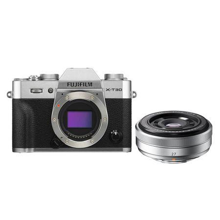 Camera-FujiFilm-X-T30-Mirrorless---Lente-XF-27mm-f-2.8--Prata-