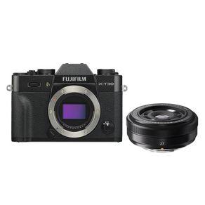 Camera-FujiFilm-X-T30-Mirrorless---Lente-XF-27mm-f-2.8--Preta-