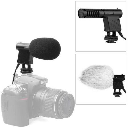 Microfone-Shotgun-Boya-BY-VM01-Unidirecional-para-Cameras-DSLR-e-Filmadoras