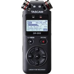 Gravador-de-Audio-Digital-Tascam-DR-05X-Estereo-de-Mao-com-Interface-de-Audio-USB