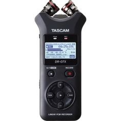 Gravador-de-Audio-Digital-Tascam-DR-07X-Estereo-com-Interface-de-Audio-USB