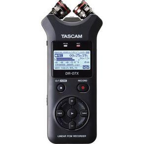 Gravador-de-Audio-Digital-Tascam-DR-07X-Estereo-com-Interface-de-Audio-USB