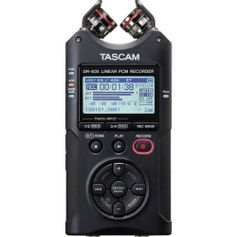 Gravador-de-Audio-Digital-de-Quatro-Trilhas-Tascam-DR-40X-e-Interface-de-Audio-USB