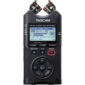 Gravador-de-Audio-Digital-de-Quatro-Trilhas-Tascam-DR-40X-e-Interface-de-Audio-USB
