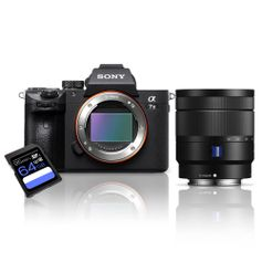 Kit-Camera-Sony-a7III-Mirrorless---Lente-Sony-16-70mm--SEL1670Z----Cartao-SDXC-64Gb-de-95Mb-s