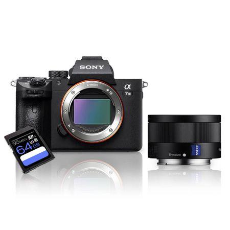 Kit-Sony-a7III-Mirrorless---Lente-Sony-FE-35mm-ZA--SEL35F28Z----Cartao-SDXC-64Gb