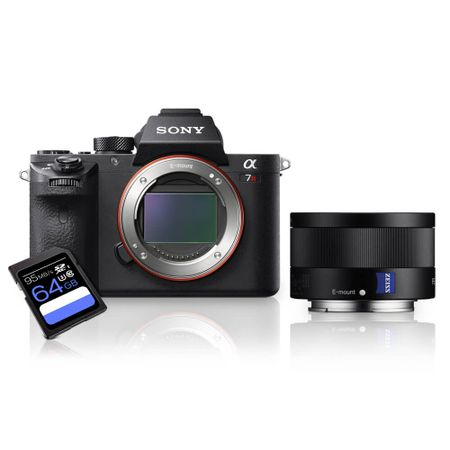 Kit-Sony-a7R-II-Mirrorless---Lente-Sony-FE-35mm-ZA--SEL35F28Z----Cartao-SDXC-64Gb