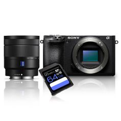 Kit-Sony-A6500-Mirrorless-4K---Lente-Sony-16-70mm--SEL1670Z----Cartao-SDXC-64Gb