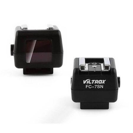 Sapata-Adaptadora-Sem-Fio-de-Flash-Nikon-e-Canon-Viltrox-FC-7SN-para-Cameras-Sony