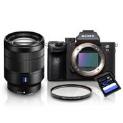 Kit-Sony-a7III-Mirrorless---Lente-Sony-FE-24-70mm-T----Filtro-UV-67mm---Cartao-SDXC-32Gb-de-95Mb-s