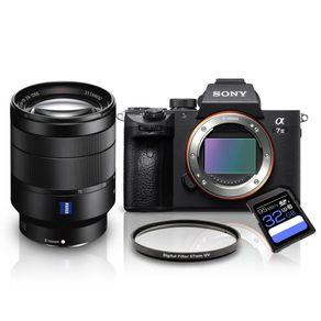Kit-Sony-a7III-Mirrorless---Lente-Sony-FE-24-70mm-T----Filtro-UV-67mm---Cartao-SDXC-32Gb-de-95Mb-s