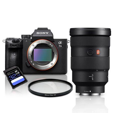 Kit-Sony-a7III-Mirrorless---Lente-Sony-FE-24-70mm-GM---Filtro-UV-82mm---Cartao-SDXC-32Gb-de-95Mb-s