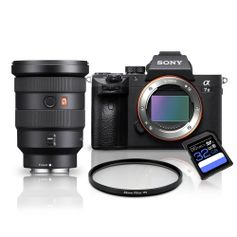 Kit-Sony-a7III-Mirrorless---Lente-Sony-FE-16-35mm-GM---Filtro-UV-82mm---Cartao-SDXC-32Gb-de-95Mb-s