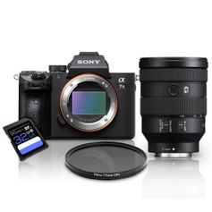 Kit-Sony-a7III-Mirrorless---Lente-Sony-FE-24-105mm-G-OSS---Filtro-CPL-77mm---Cartao-SDXC-32Gb-de-95Mb-s