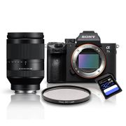 Kit-Sony-a7III-Mirrorless---Lente-Sony-FFE-24-240mm-OSS---Filtro-SkyLight-72mm---Cartao-SDXC-32Gb-de-95Mb-s
