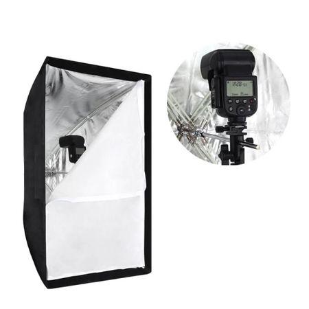 Softbox-para-Flash-Speedlite-60x60cm-de-Instalacao-Rapida-para-Estudios-Fotograficos