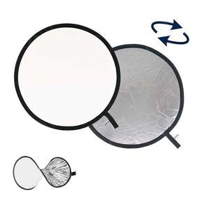 Rebatedor-Circular-2-em-1-Branco-e-Prata-de-100cm-Dobravel-