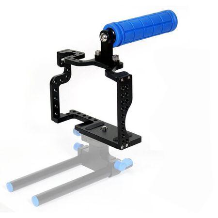 Gaiola-Cage-C7-com-Punho-Handle-Grip-para-Mirrorless-Sony-A7-A6300-A6400-A6500-e-Panasonic-Linha-GH