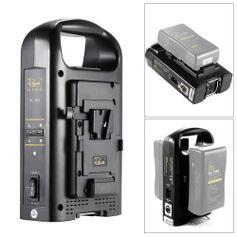 Carregador-Duplo-RL-2KS-Broadcast-para-Baterias-V-Mount-com-Saida-XLR--Bivolt-