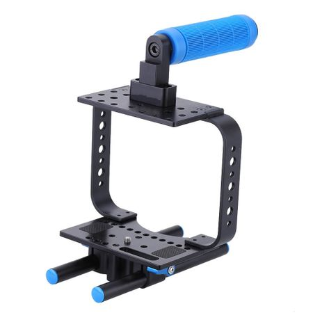 Gaiola-Cage-BMCC-C3-com-Punho-Handle-Grip-Espumado-para-BLackMagic-Cinema-Canon-C300-C500-e-5DMarkII