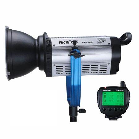 Refletor-Led-de-Luz-Continua-COB-NiceFoto-HA-2300b-de-230W-Video-Light-5500K-com-Controle-Remoto--Bivolt-