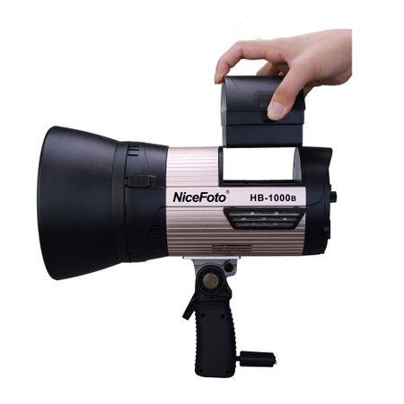 Luz-Continua-LED-Portatil-NiceFoto-HB-1000B-de-100W-Video-Light-5500K-com-Bateria-Integrada