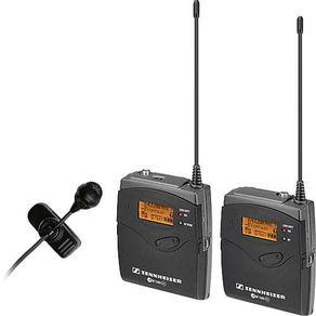 Kit-Microfone-Sem-Fio-Lapela-ME4-Sennheiser-EW-122-P-G3-Wireless-com-Montagem-de-Camera--626-668MHz-