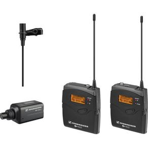 Kit-Combo-Microfone-Sem-Fio-Lapela-ME2-Sennheiser-EW-100-ENG-G3-G-Wireless-Conversor-XLR--G-566-608MHz-
