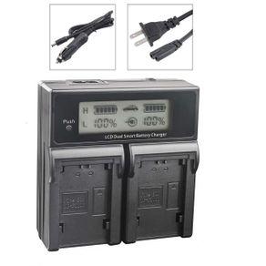 Carregador-Duplo-para-Sony-NP-FV50-de-Carga-Rapida-e-Visor-de-LCD--Bivolt-