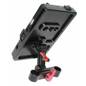 Placa-de-Montagem-Bateria-V-Mount-5D2-WF-VF4-com-Montagem-de-Haste-de-15mm