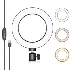 Iluminador-de-Led-Circular-6--Bi-Color-Video-Ring-Light-16cm-USB--3200-5500K-