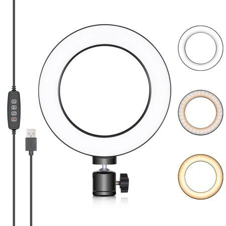 Iluminador-de-Led-Circular-6--Bi-Color-Video-Ring-Light-16cm-USB--3200-5500K-