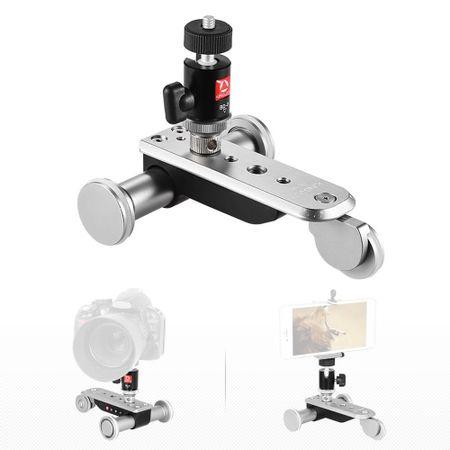 Mini-Slider-Dolly-Eletronico-Motorizado-PPL-06S-Skate-com-Cabeca-Ball-Head-para-Videos